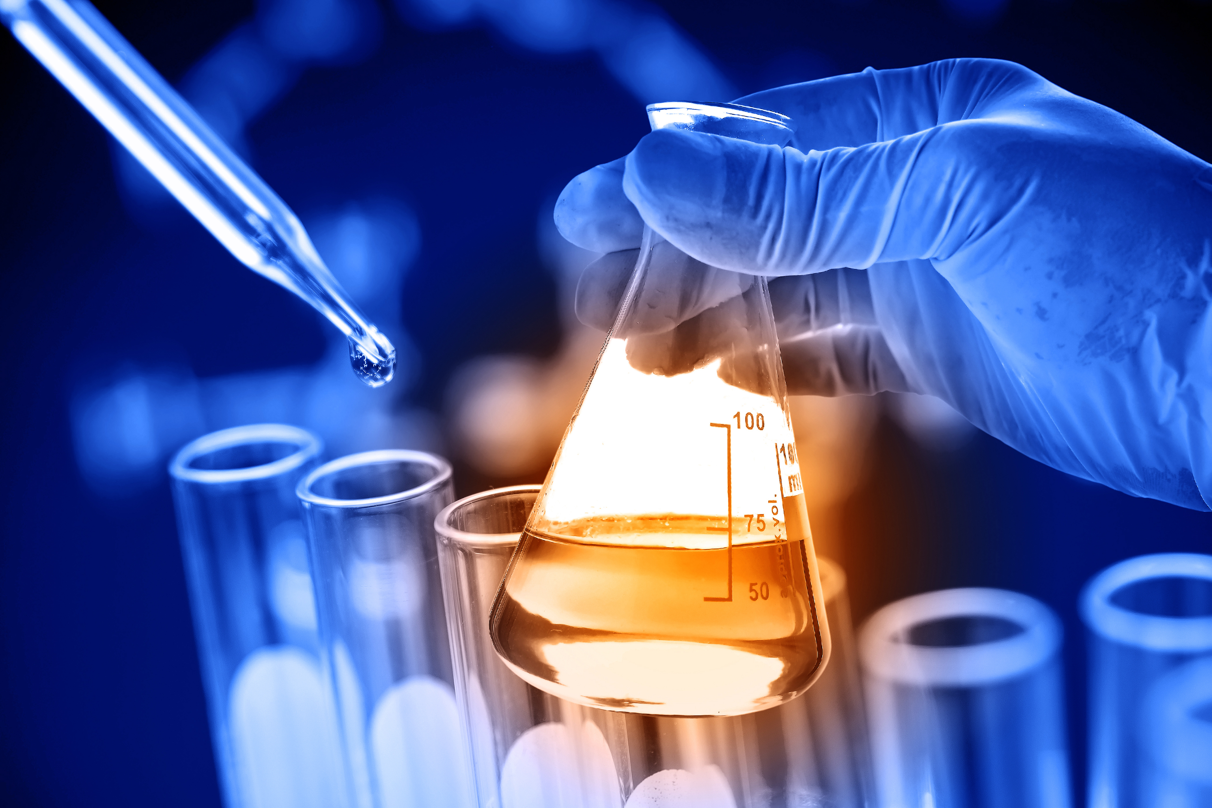 image of a laboratory beaker